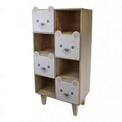 Baby Bear Four Drawer Storage Unit