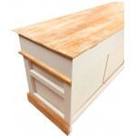 White Wooden Storage Bench 103cm