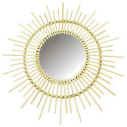Rattan Mirrors Pointed 51cm