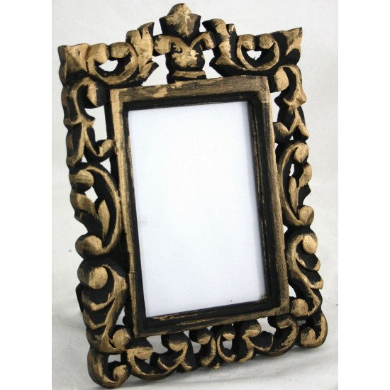 Black and Gold Carved Photo Frame
