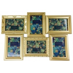 6 Multi Gold Photo Frames 52x35cm