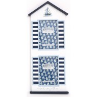 Sea Shore Beach Hut Boat Double Photo Frames