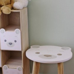Baby Bear Wooden Side Table Bear Design