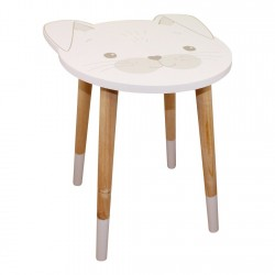 Baby Bear Wooden Side Table Rabbit Design