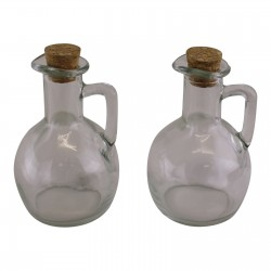 Heart Of The Home Set Of 2 Oil & Vinegar Glass Bottles