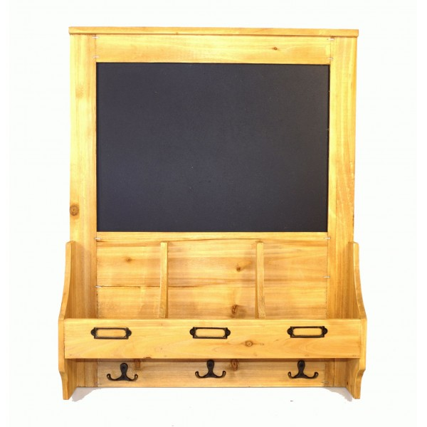 Chalkboard with hooks and Post Space 47 x 10 x 59cm