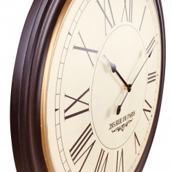 Back Ribbed Traditional Wall Clock
