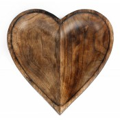 Wooden Heart Bowls & Metal Table Tree  (6)