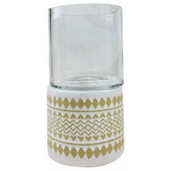Zig Zag Pillar Candle Holder 26cm