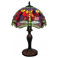 Red Dragonfly Tiffany Lamp 12