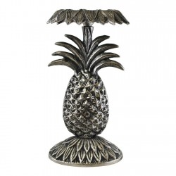 Silver Metal Pineapple Candle Stick