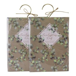 Set of 2 Eucalyptus Leaf Fragranced Sachets, 60gm