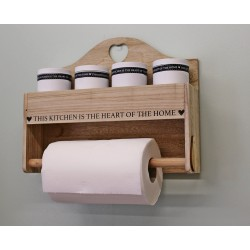 Heart Of The Home Wall Hanging Storage with Kitchen Roll Holder
