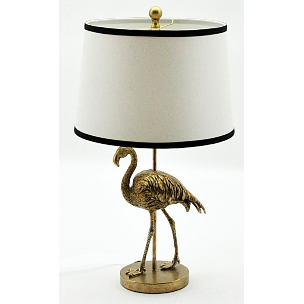 Golden Peacock Table Lamp And Shade 68cm
