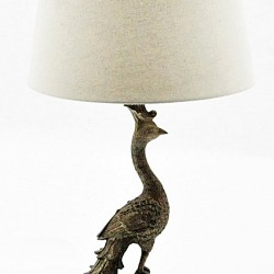 Golden Flamingo Table Lamp And Shade 62cm