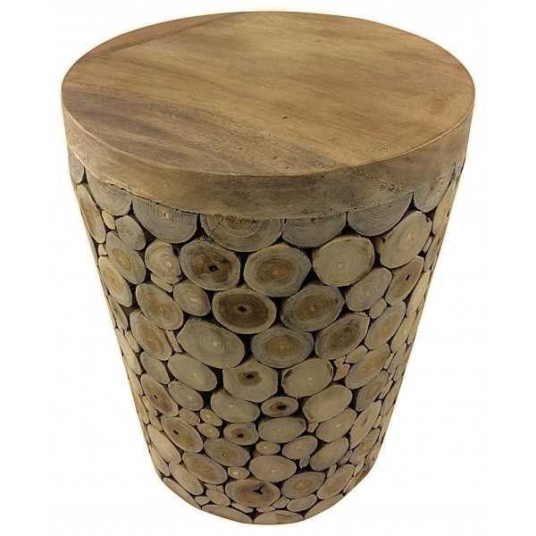 Teak Branch root stool 35cm x 35cm x 45cm