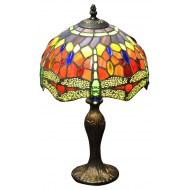 """In Red Dragonfly Tiffany Lamp 10"""""""