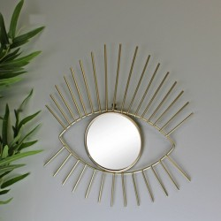 Gold Metal Eyelash Accent Mirror