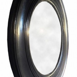 Antique Black Round Mirror