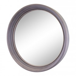 Large Round Grey Deep Edge Wall Mirror