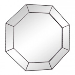 Large Silver Hexagonal Mirror 61cm