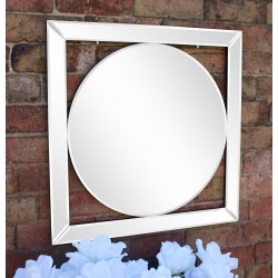 Bevelled Edge Deco Style Mirror 60cm