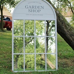 60x100cm Potting Shed Mirror, Grey