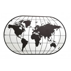 Large World Map Mirror 100cm