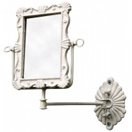 Antique White Rusty Wall Mirror