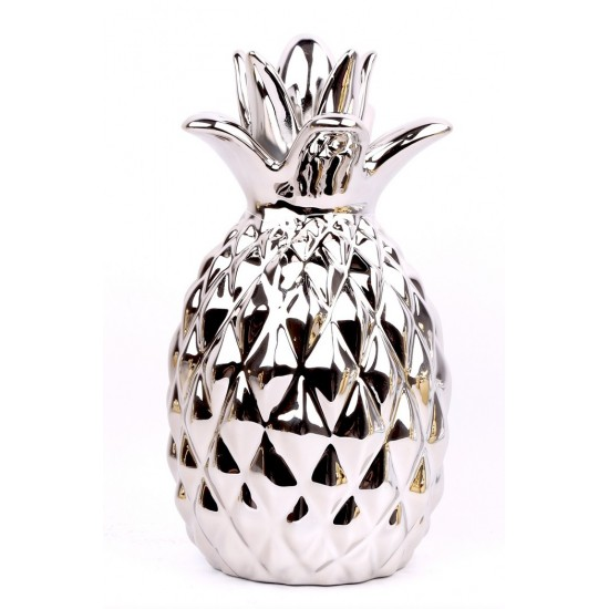 Large Silver Pineapple Ornament 28cm