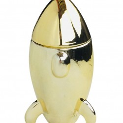 Golden Rocket Storage Ornament 22cm
