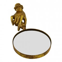 Gold Metal Magnifying Glass, Boho Style