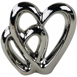 Double Heart Ornament 15cm