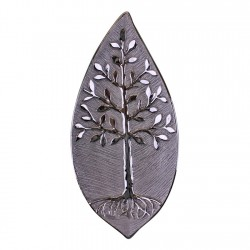 Ceramic Silver Tree Of Life Dish, Wall Hanging or Freestanding 38cm