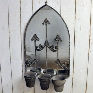 Rusty Wall Mirror With Planter