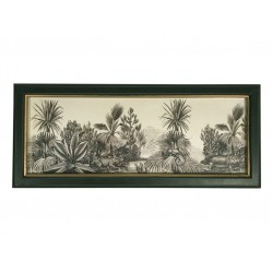 Black Framed Monochrome Jungle Print