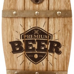 Wall Hanging Beer Barrel Bottle Opener