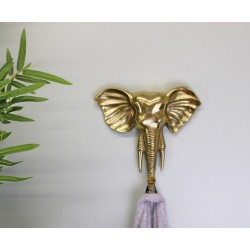 Decorative Gold Elephant Wall Hanging Hook