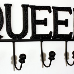 Black Queen 5 Hook Wall Unit