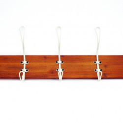 5 Hook Wooden Rack Cream