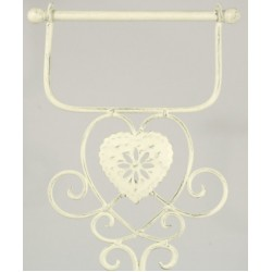 Cream Heart Standing Toilet Roll Holder