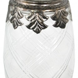 Small Glass And Metal Jar With Lid
