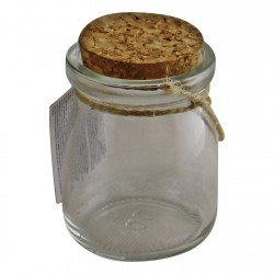 Set of 12 Small, Craft Storage Glass Jars With Cork Stoppers