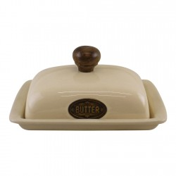 Country Cottage Cream Ceramic Butter Dish