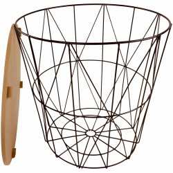 Geometric Black Wire Circular Side Table