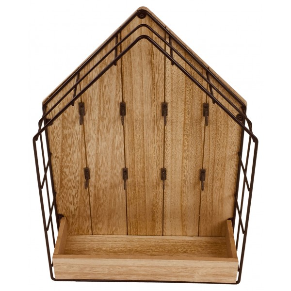 Wood & Wire House Key Storage Unit