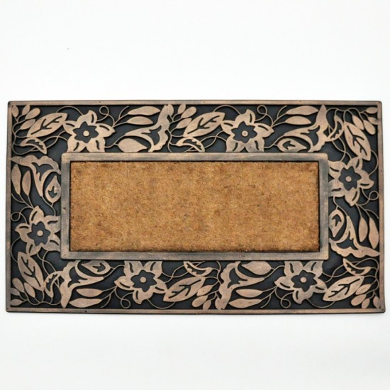 Rubber Leaf Design Coir Doormat 76cm