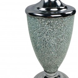 Silver Mosaic Lamp And Shade 62.5cm
