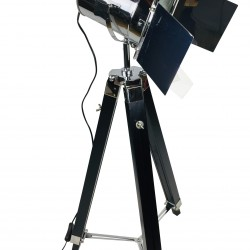 Black Floor Standing Tripod Lamp 140cm
