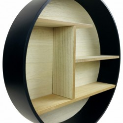 Black Round Shelf Unit 46